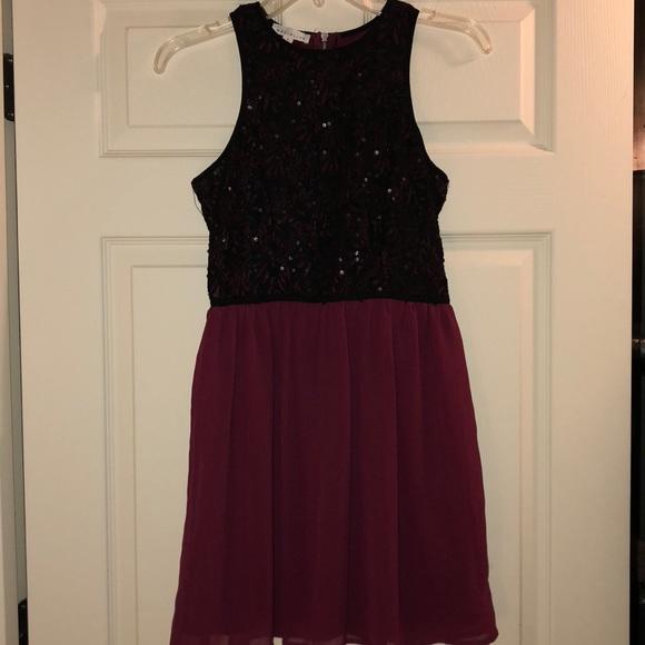 Socialite Dresses   Black Sequin Maroon Nordstrom Rack Dress   Poshmark